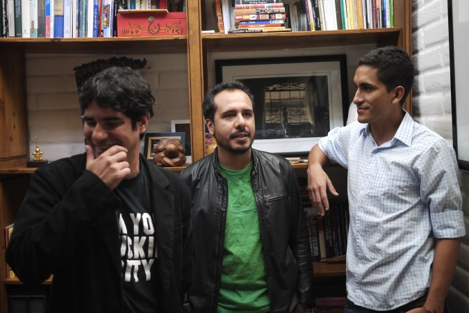 From left, Daniel Centeno, Diego Bustos and Daniel Rios are the UTEP students and graduate behind the Spanish-only literary magazine, COROTO. (Courtesy of UTEP Communications)