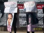 Protesta en la Universidad Autónoma de Cd. Juárez por la falta de investigación de las autoridades tras 20 años de feminicidios y desapariciones. (Gloria Aime Ramirez/Borderzine.com)