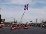 Red barons successfully riding with the parade. (Robert Brown/Borderzine.com)