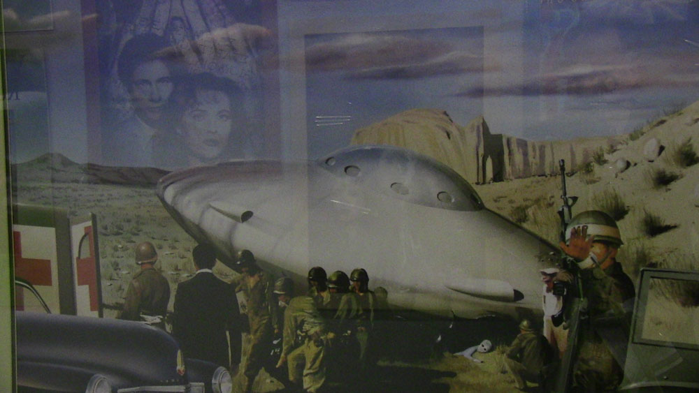 An illustration of the incident can be found at the Roswell UFO Museum. (Courtesy of Roswell UFO Museum)