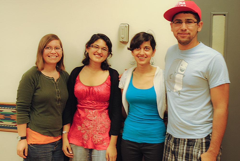 President of the Baha'i Association, Nazani Heydarian, along with UTEP members. (Cassandra Morrill/Borderzine.com)