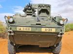 Armored fighting vehicle. (Alejandra Matos/Borderzine.com)