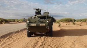 The IAV Stryker, the currnt vehicle used for mechanized operations. (Ken Hudnall/Borderzine.com)