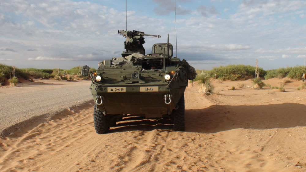 The IAV Stryker, the currnt vehicle used for mechanized operations. (Ken Hudnall/Borderzine.com)