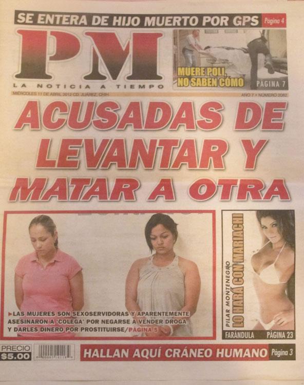 PM, edición del 11 de abril de 2012. (Victoria A. Perez/Borderzine.com)