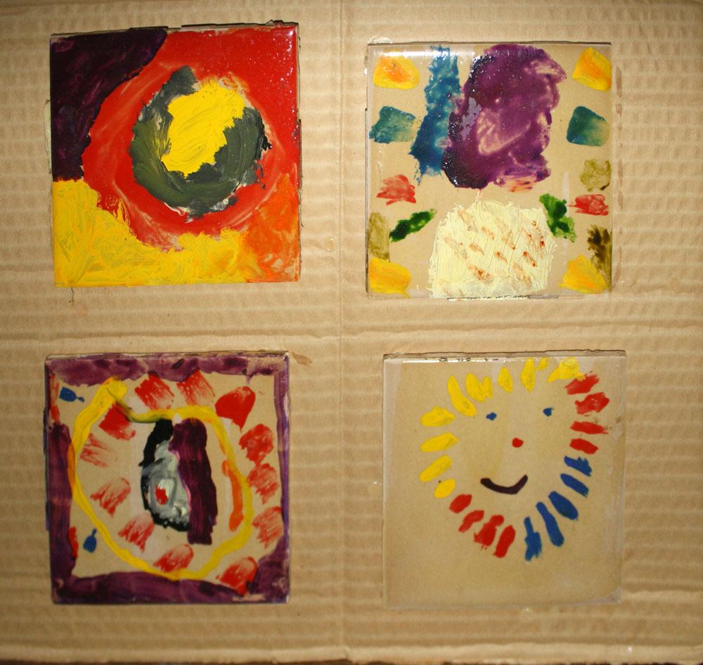 Childhood artwork to be saved. (Cheryl Howard/Borderzine.com)
