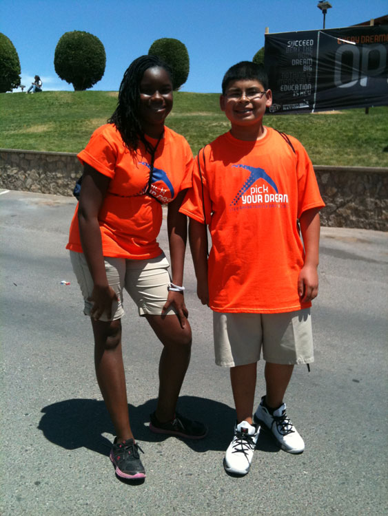 Desiree Anderson and Jonathan Perez were part of the 8,000 5th and 7th graders that visited UTEP during the Opportunity Days events. (Anoushka Valodya/Borderzine.com)