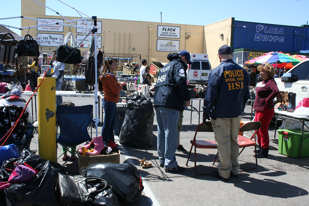 The raid by Homeland Security intelligence officers took place in April 15 and seized nearly 20,000 items. (Courtesy of ICE)
