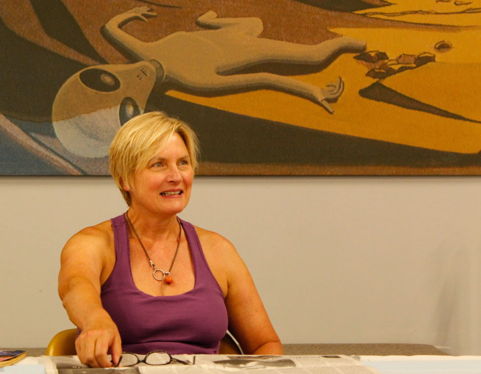 Denise Crosby played Tasha Yar on the first season of the television program Star Trek: The Next Generation. (Ken Hudnall/Borderzine.com)