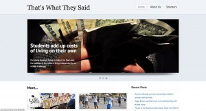 Students participating in Journalism in July produced the e-magazine That's What They Said. (Borderzine.com)