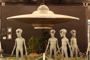 An installation at the UFO Museum and Study Center, Roswell, NM. (Ken Hudnall/Borderzine.com)