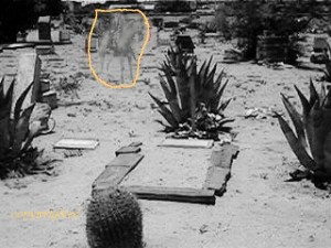 Ghostly cowboy and his horse at Ccncordia cemetery. (Photo courtesy of Hamilton Underwood)