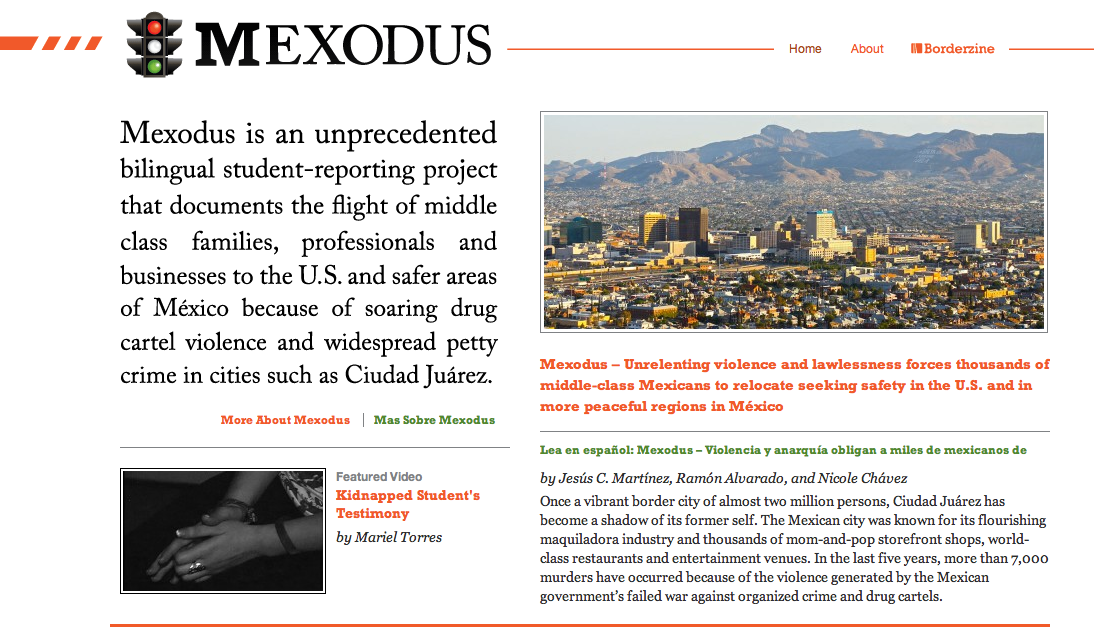 Mexodus, Borderzine's especial project.
