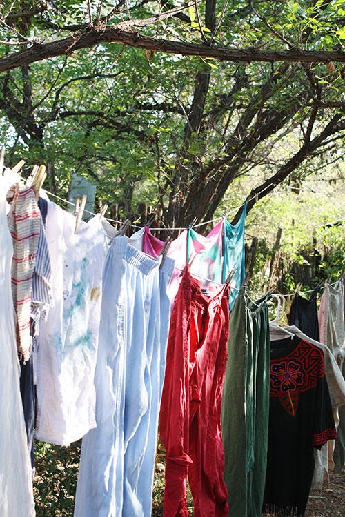 Clothes on a line, mine.(Cheryl Howard/Borderzine.com)