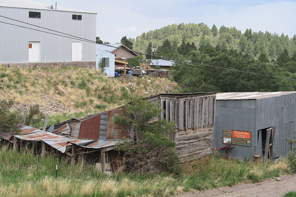 Collapsing corrals in Cloudcroft, New Mexico, where I used to keep my horse Cindy, more than fifty years ago. (Cheryl Howard/Borderzine.com)