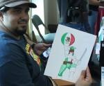 Soto creator of Capitán México. (Luisana Duarte/Borderzine.com)