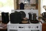 Making salsa on a fine old stove. (Cheryl Howard/Borderzine.com)