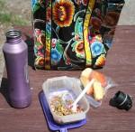 Picnic lunch in Railroad Canyon. (Cheryl Howard/Borderzine.com)