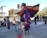Aeialists performing on stills were the delight of kids. (Krytle Holguin/Borderzine.com)