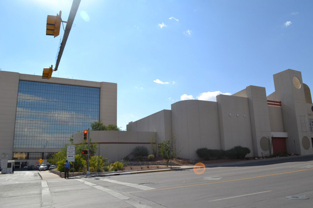 El Paso's City Hall and the Insights Museum are part of the buildings that would be demolished to give space to the new stadium. (Luis Barrio/Borderzine.com)