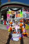 The altar, built by members of Mexicanos en Exilio, was located on Yandell and Newman. (Krystle Holguin/Borderzine.com)