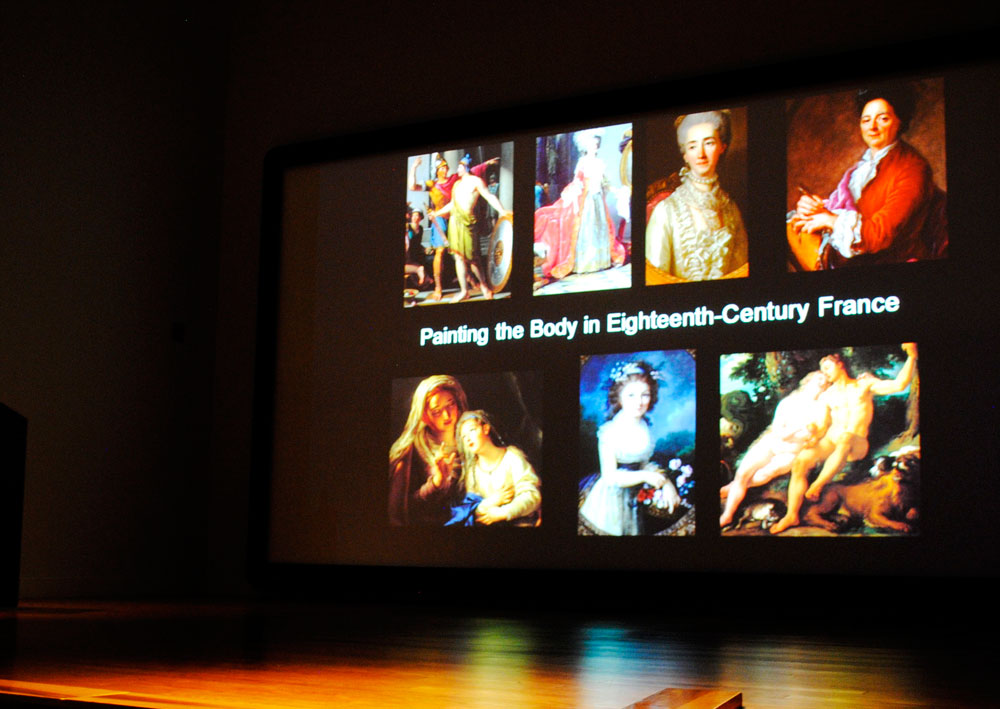 The lectures begin with a general presentation of Baroque painting followed by three presentations of different aspects of style. (Christina Duran/Borderzine.com)