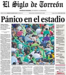 Portada del 21/08/11 de El Siglo de Torreón.