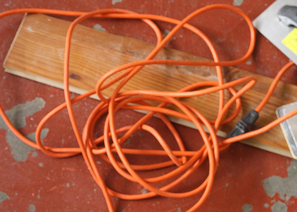 Extension cord. (Cheryl Howard/Borderzine.com)