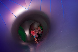 Visitors to the Mirazozo Luminarium compared the experience to walking into a kaleidoscope. (Francis Regalado/Borderzine.com)