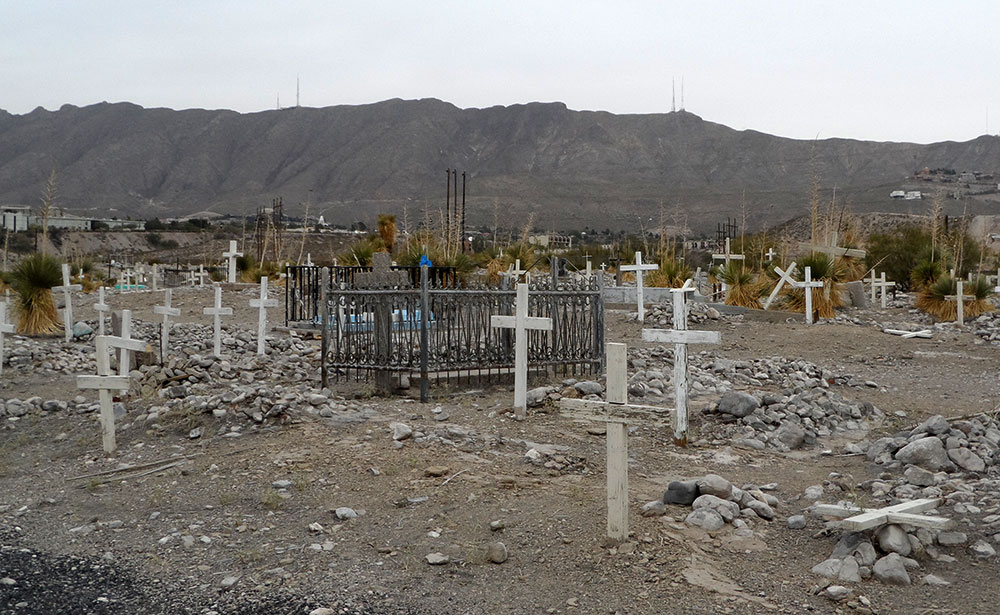 In learning about my family and Smelter Town, I found out that my great, great grandma is buried in Smelter cemetary. (Ernie Chacon/Borderzine.com)