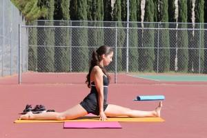 A devout yogi for 3 years, Garza's flexibility and balance has increased considerably. (Jessica Alvarez/Borderzine.com)