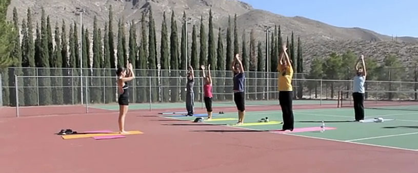 """""""Yoga promotes well-being and allows you to exercise without feeling like you are. Most people don't like to exercise, so Yoga is a method for those that don't like it,"""" said yogi Rose Garza. (Jessica Alvarez/Borderzine.com)"""