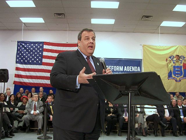 Christie at a town hall meeting in Union City, New Jersey, on February 9, 2011. (©Luigi Novi)