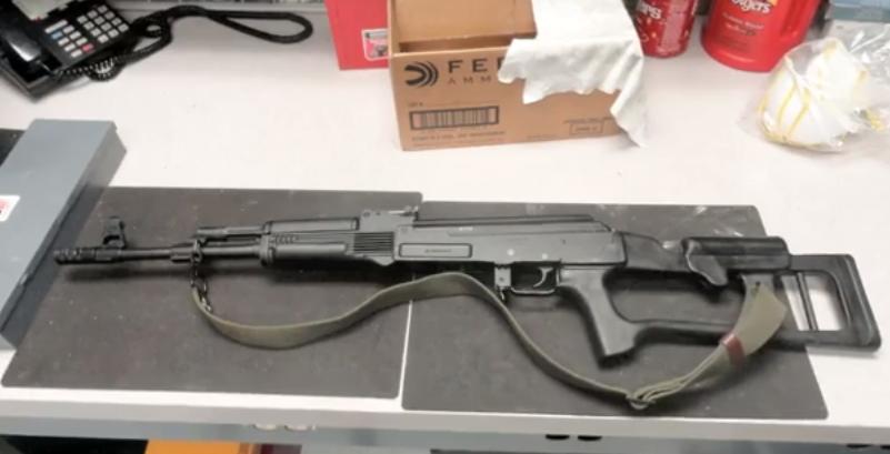 AK-47 assault rifle. (Christine Villegas/Borderzine.com)
