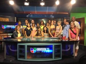 2012 Journalism in July visit Univision 26. (©Borderzine.com)