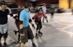 The Dead Bolts is one of only three other men's roller derby teams in Texas. (Amber Watts/Borderzine.com)
