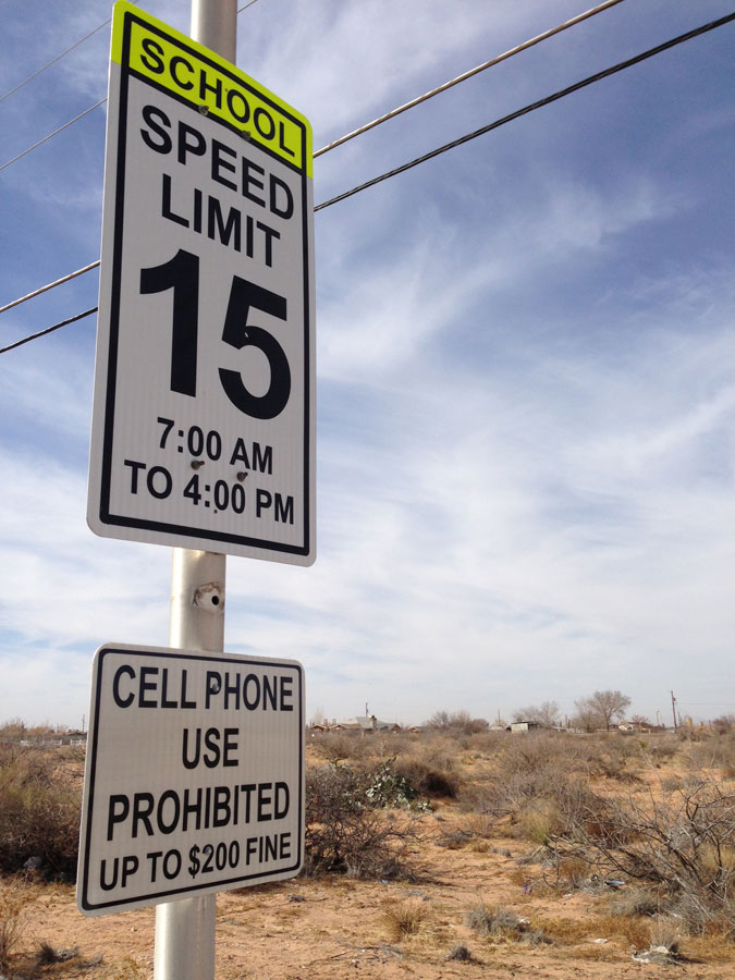 Speeding fines in school zones can range from $183.10 to 283.10 plus court costs. (Joshua Gutierrez/Borderzine.com)