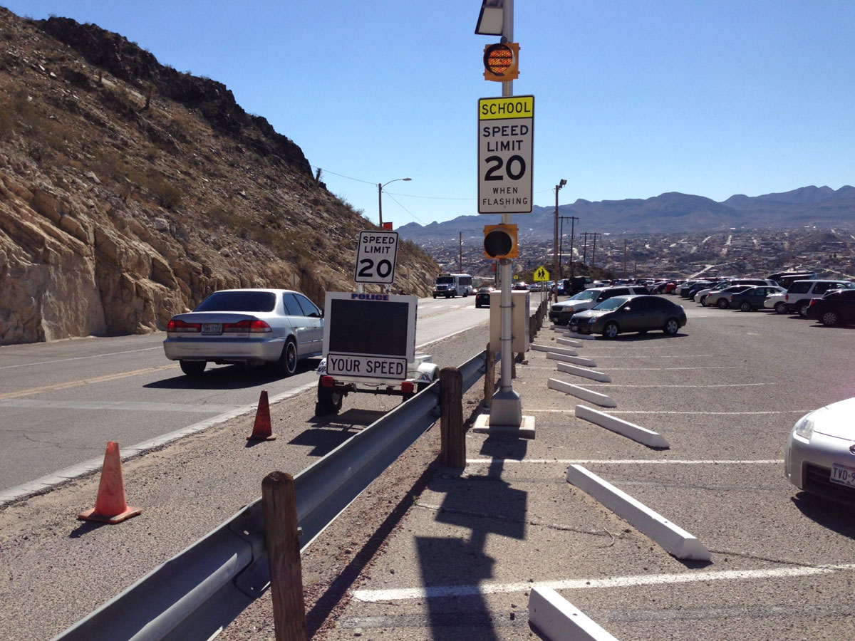 There were 18 accidents at speed zones in El Paso in 2012. (Joshua Gutierrez/Borderzine.com)