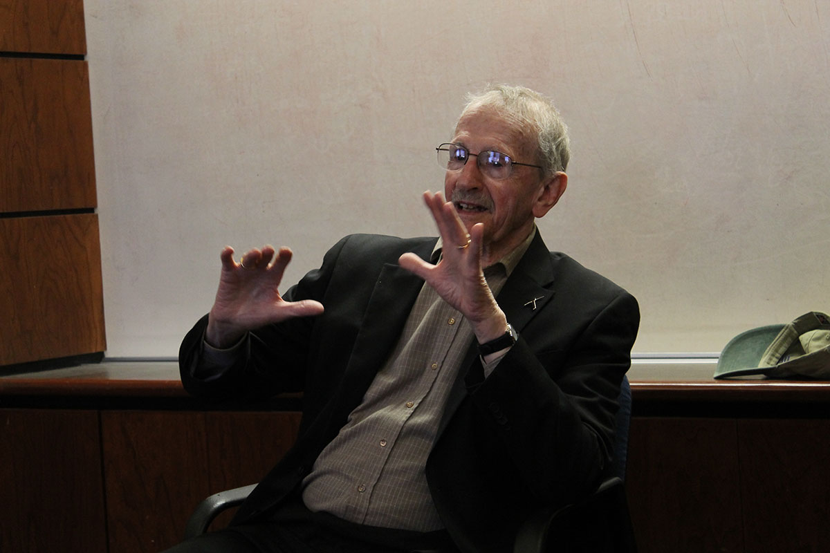 U.S. Poet Laureate, Philip Levine, at a recent visit to the University of Texas at El Paso. (David A. Reyes/Borderzine.com)