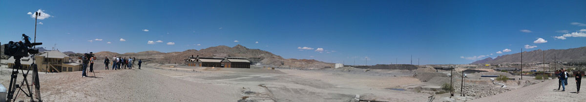 ASARCO site during press conference after the demolition. (Sarah Duenas/Borderzine.com)