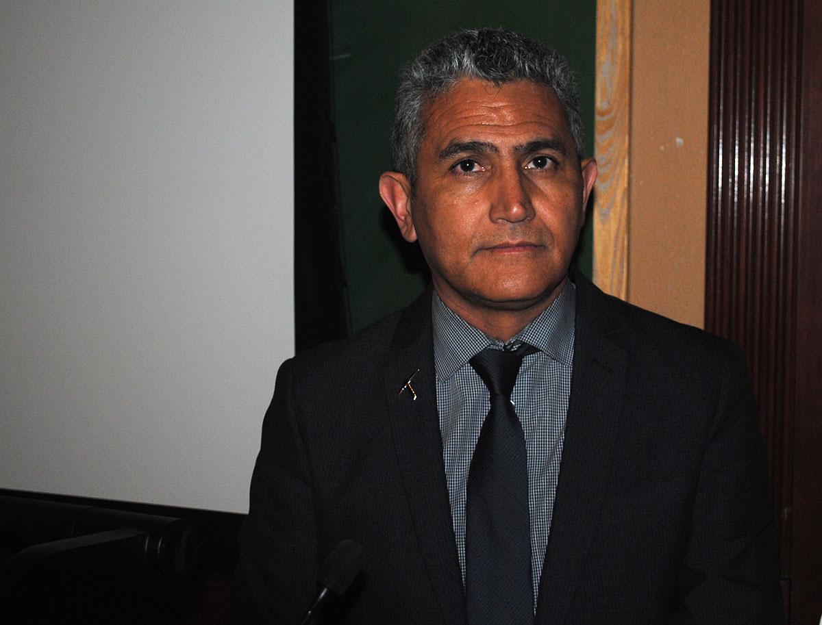 Héctor Enriquez, director del proyecto. (Gustavo Aguirre/Borderzine.com)