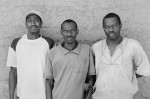 """Charles Ndeki, Bourama Seydi and Lamine Fati all stepped on land mines on their plantations in Senegal, West Africa. In his interview with Brinegar, Bourama said, """"Journalists, they come and they ask us questions, take our picture and they write and then they leave and nothing happens."""" (©Felipe Jacome)"""