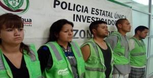 Cinco miembros de la familia Rodriguez Soriano que se dedicaban a cobrar derecho de piso a comerciantes de Ciudad Juárez. (El Monetario)