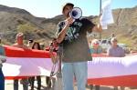 A former ASARCO employee participates in the protest. (Sarah A. Duenas/Borderzine.com)