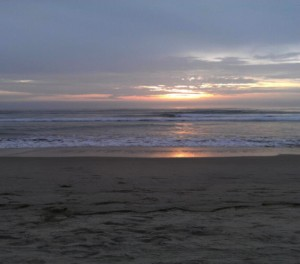 The Cailfornia Beach at sunset. (Courtesy of Stacie Aguilar)