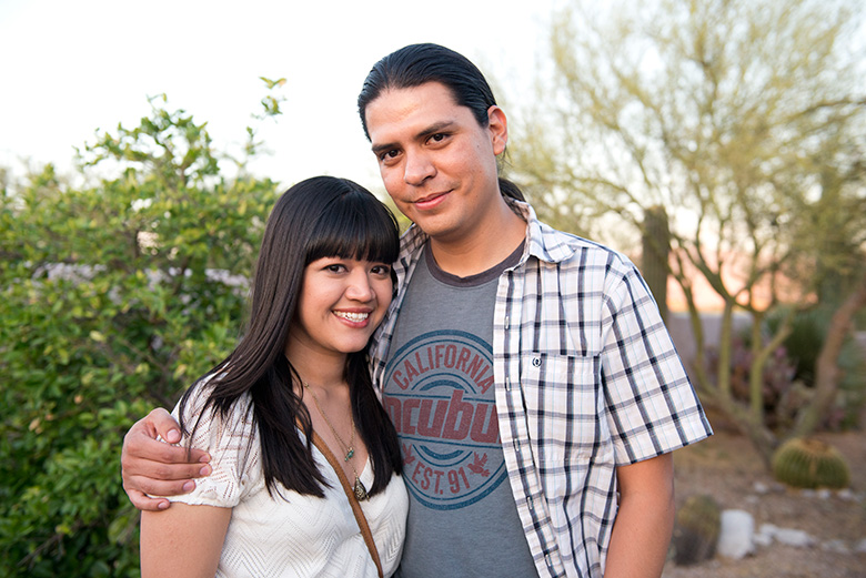 Danya Perez-Hernadez and Kristian Hernandez have been married for seven years and are the only married couple attending the institute together. (Molly J. Smith/NYT Institute)