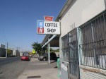The H&H Coffee Shop sign is a beacon for those seeking a car wash and a good meal. (John Schmeltzer/Borderzine.com)