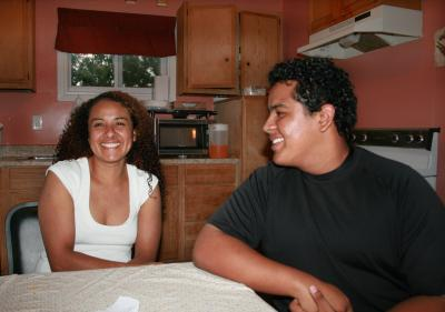 Bilingual Hebert Valdez speaks Spanish at home with his mother, Lorena. (Photo by Rebekah Wilson)
