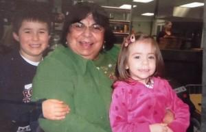 Esperanza with grandchildren Evan Miller and Trinity McClain. (Photo courtesy of Esperanza Joseph)