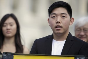 Simon Jun, an undocumented student and DREAM rider, speaks publicly for the first time about his situation. He says that Congress needs to pass immigration reform for the families living in the shadows. (Rob Denton/SHFWire)